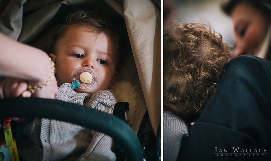 Theo - arriving at his Christening