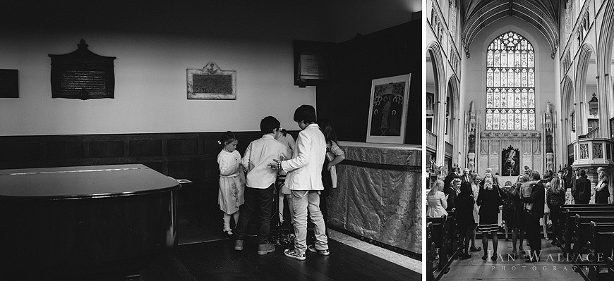 Reportage shots of children and family at St. Luke's church