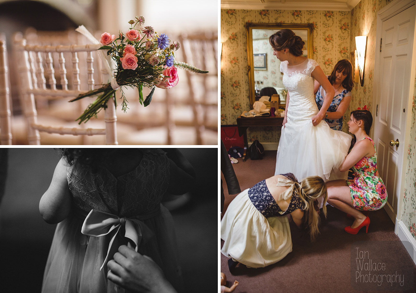 Finishing touches during wedding preparations