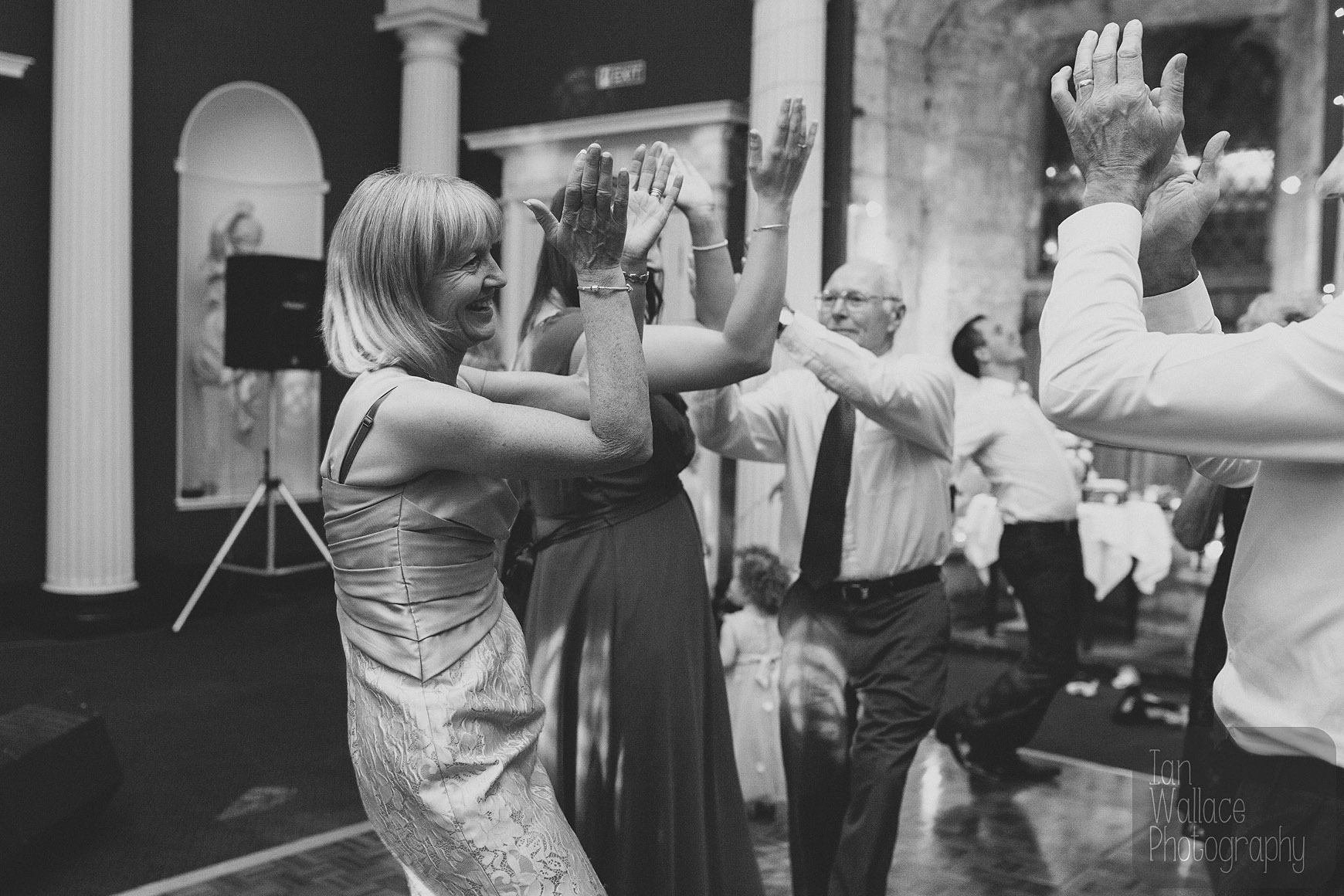 Get your hands in the air! Guests on the dance floor