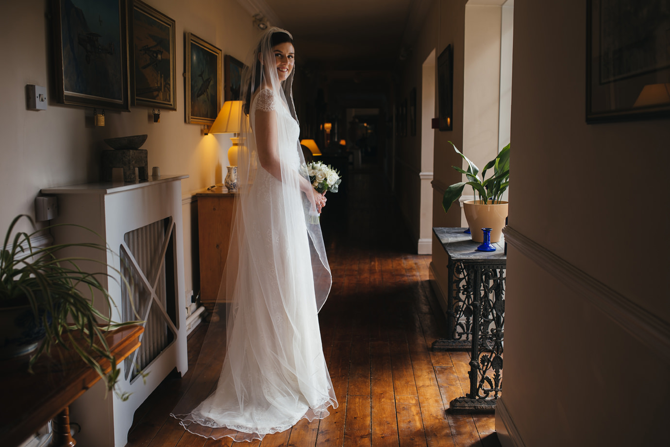 Bridal portraiture at Hemswell court