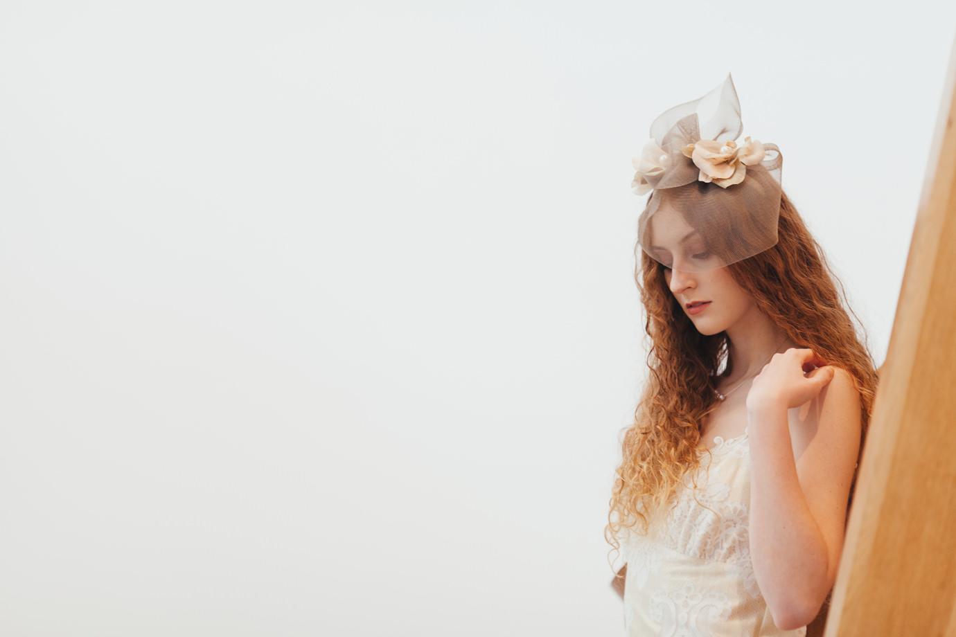 Beautiful ethereal bridal portrait