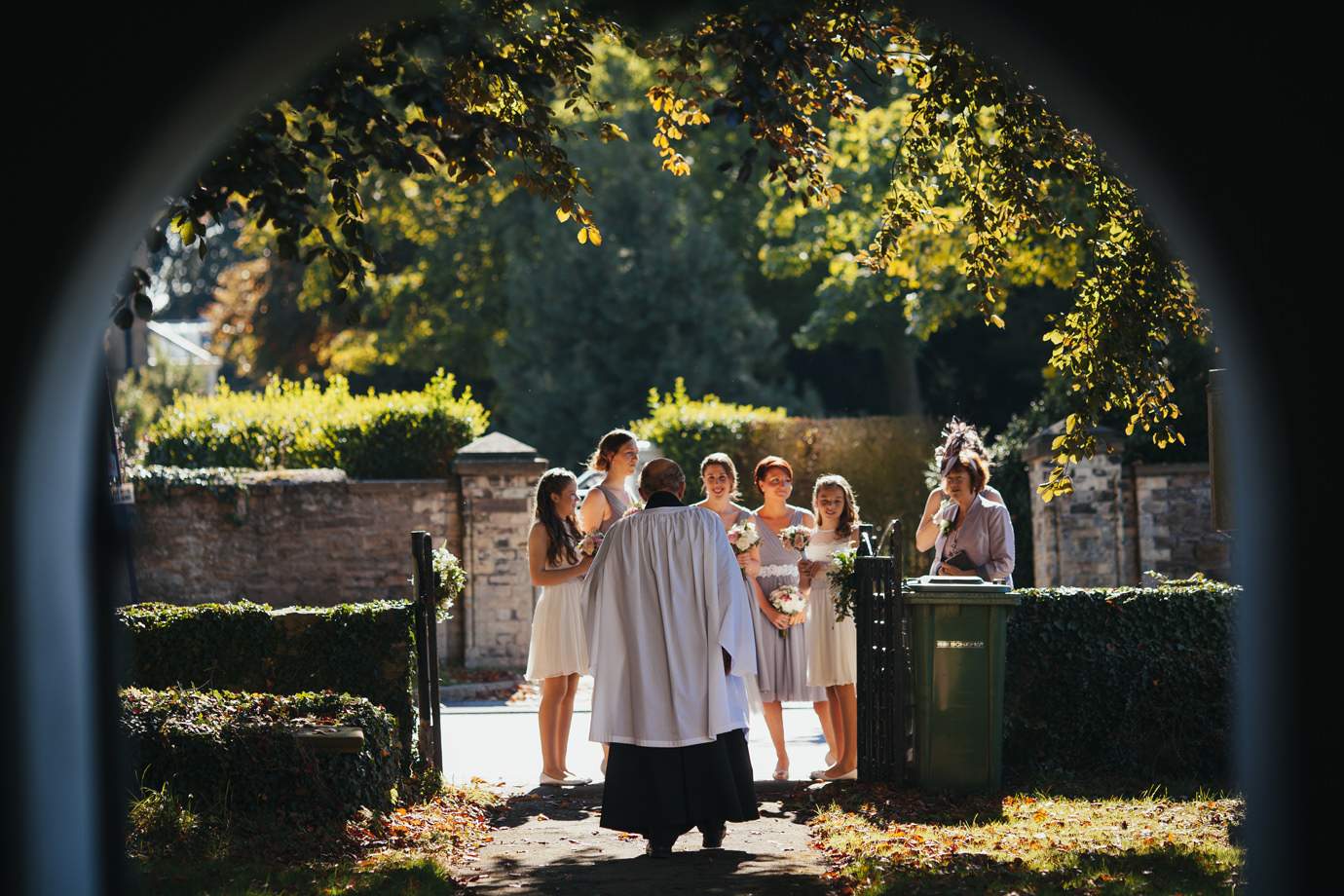Waiting for the bride at North Cave church East Riding Yorkshire