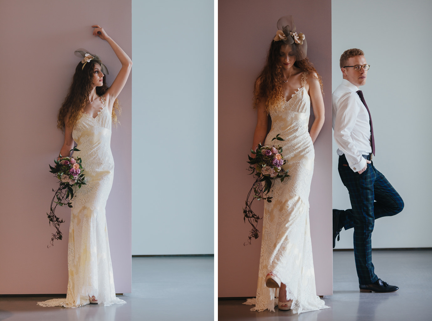 Alternative wedding portraiture at the Hepworth Wakefield