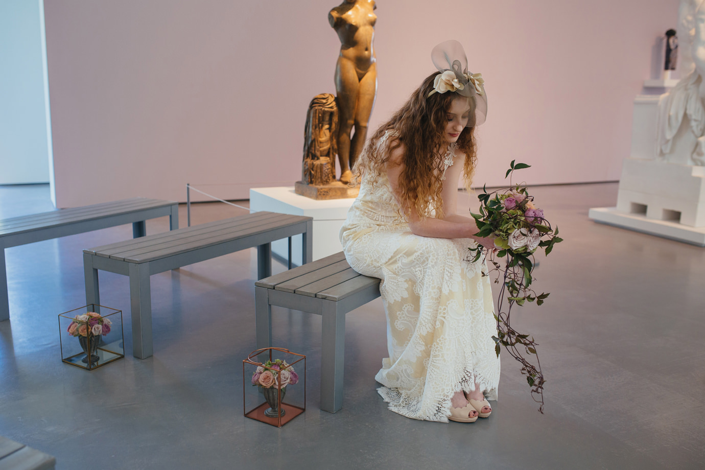 Wedding shoot at the Hepworth Wakefield