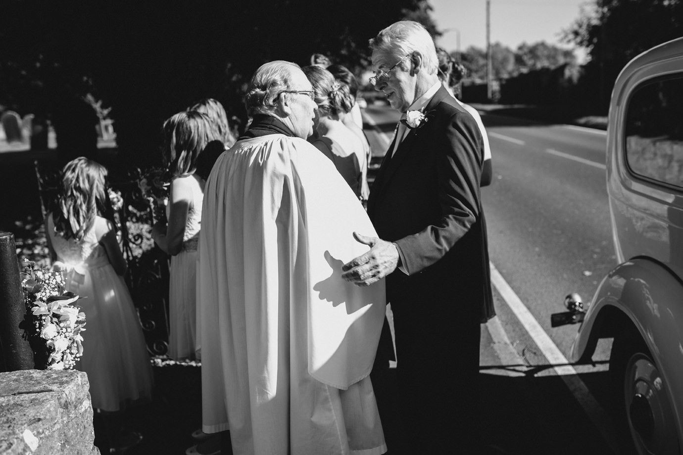 Vicar and father of the bride reportage wedding photography East riding