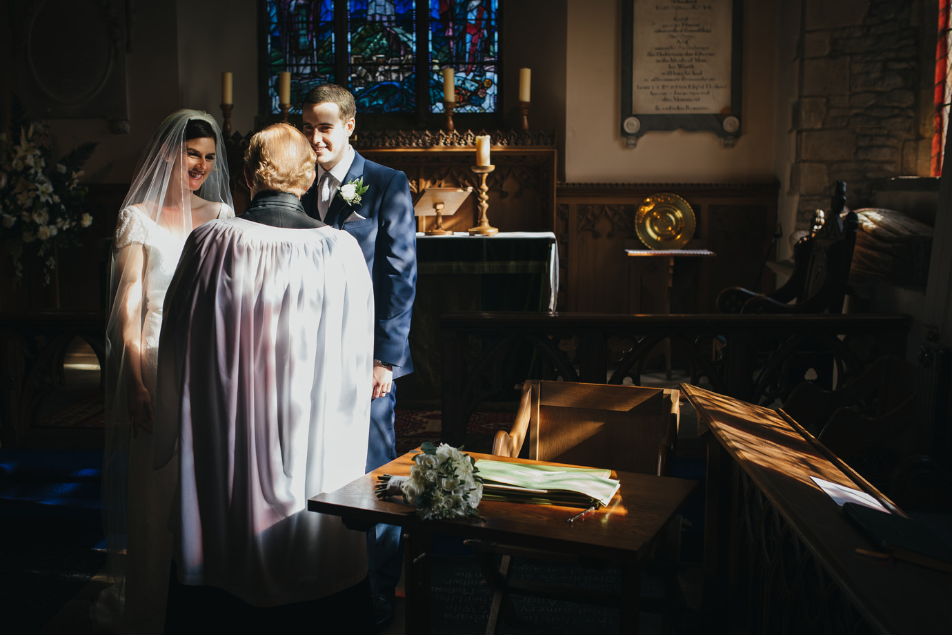The signing of the register Documentary style Yorkshire wedding photography