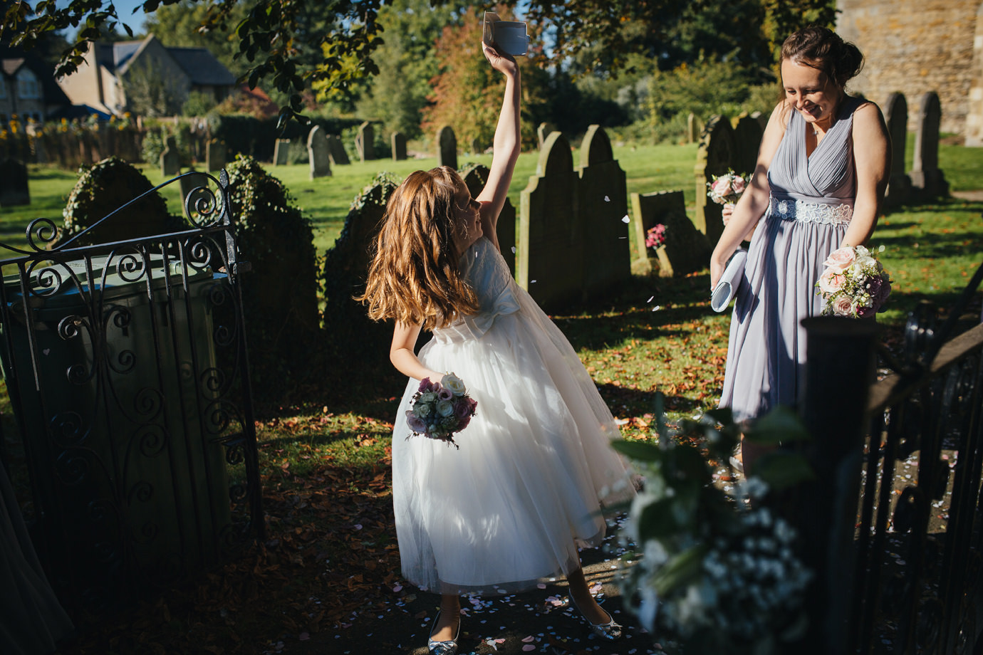 Finishing off the confetti moments wedding photography