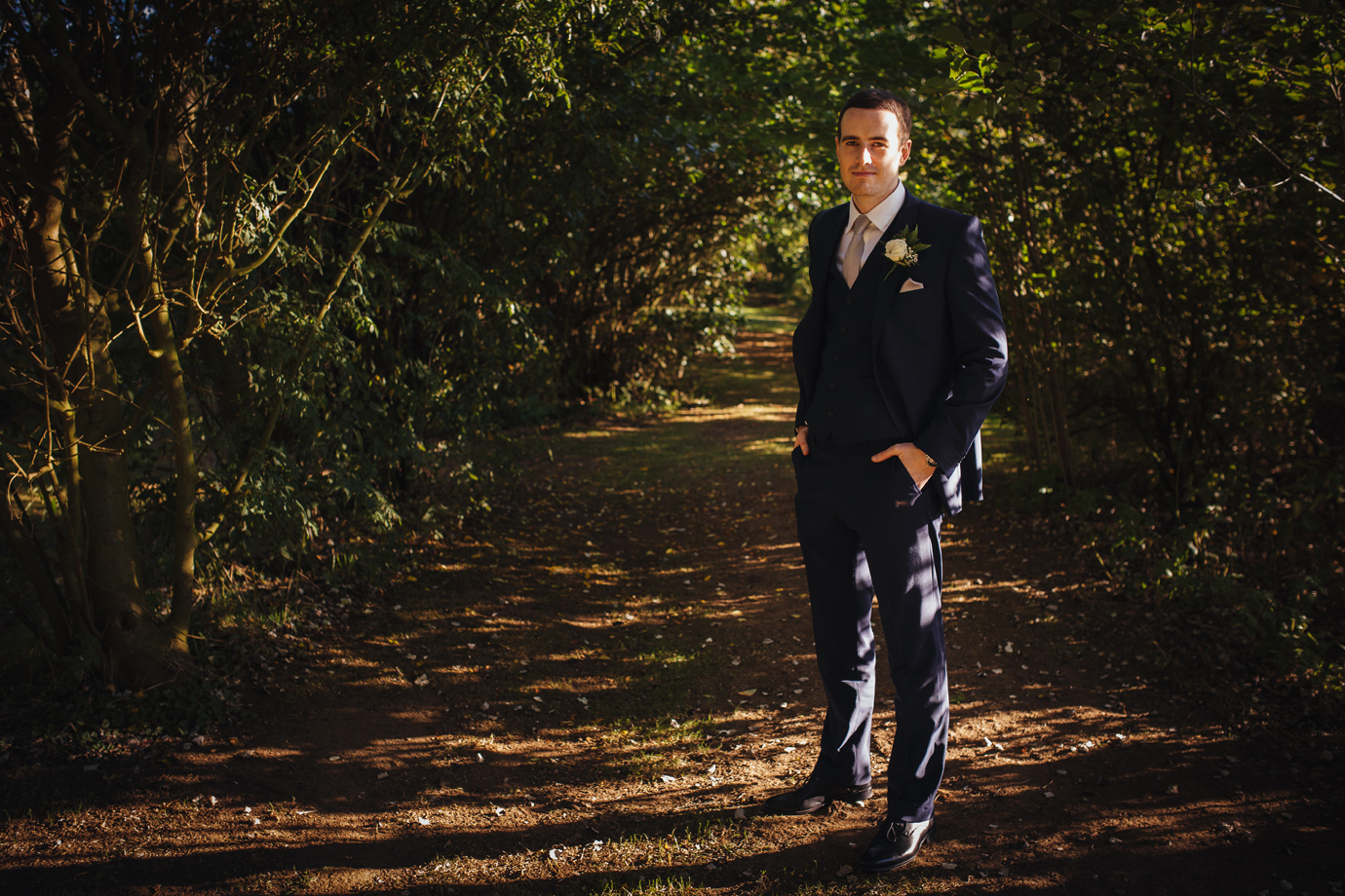 Relaxed grooms portraits wedding photography Hemswell Court