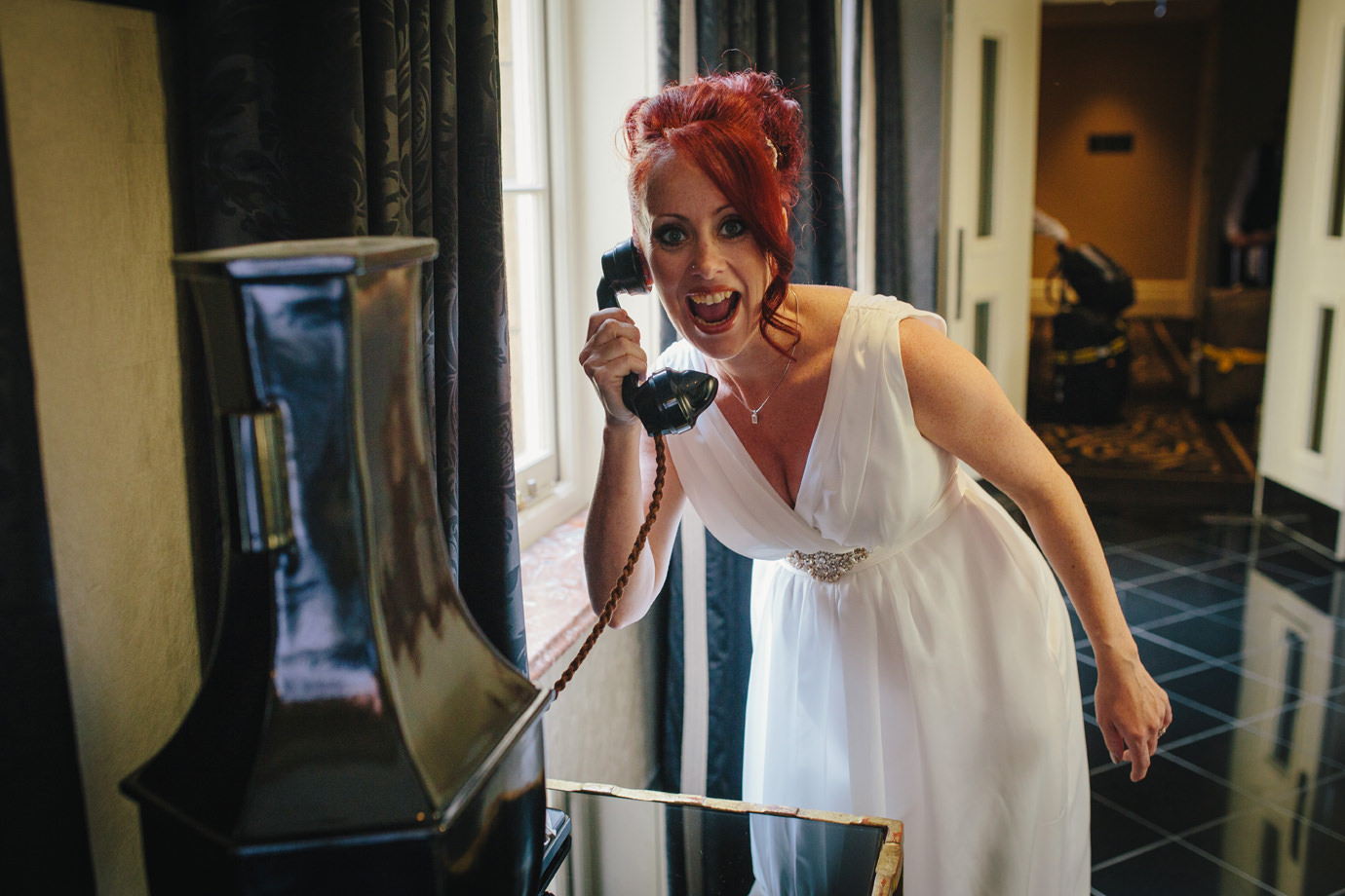 Discovering the phone during a wander around the Savoy hotel