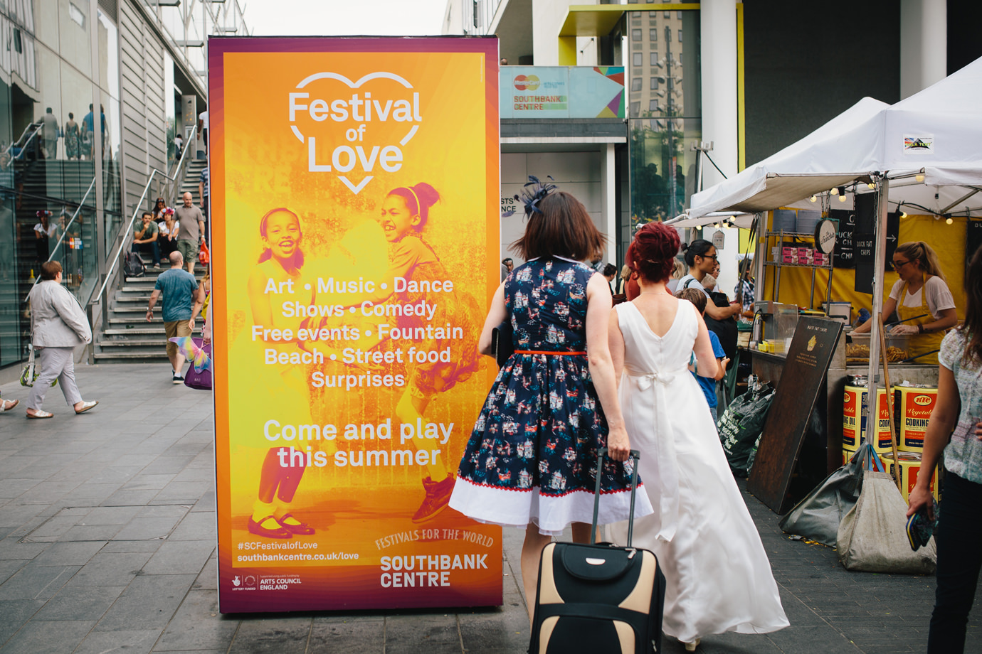 Festival of Love, Southbank, documentary wedding photography