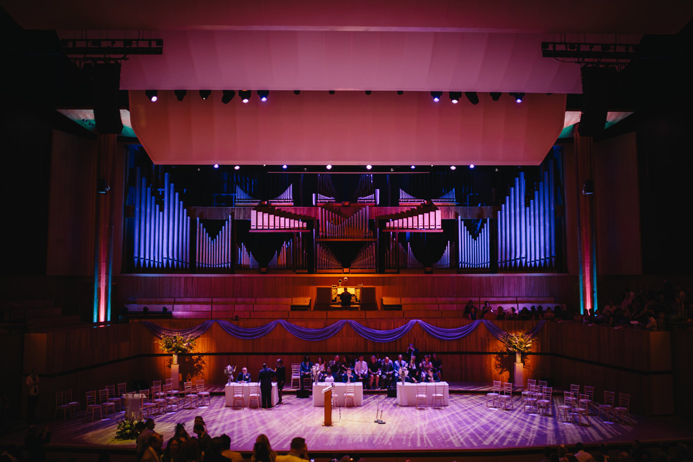 The Royal Festival Hall, ready for the Festival of love