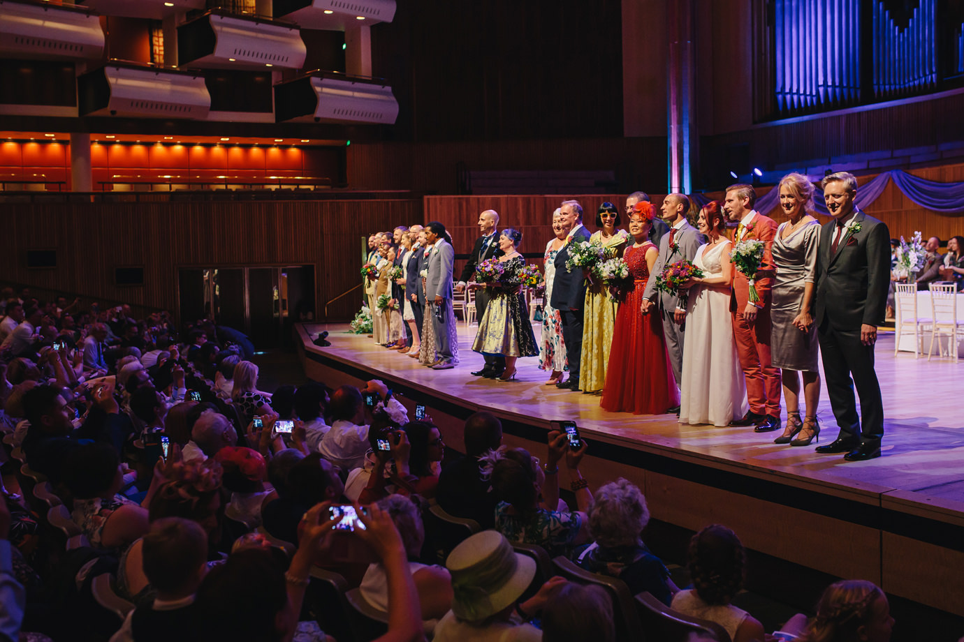 Married couples on stage, Festival of Love, Royal Festival Hall, London