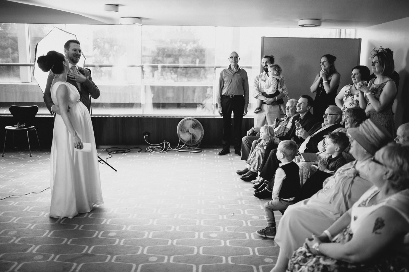 Bride and Groom speeches to guests, Royal Festival Hall, Southbank, wedding photography