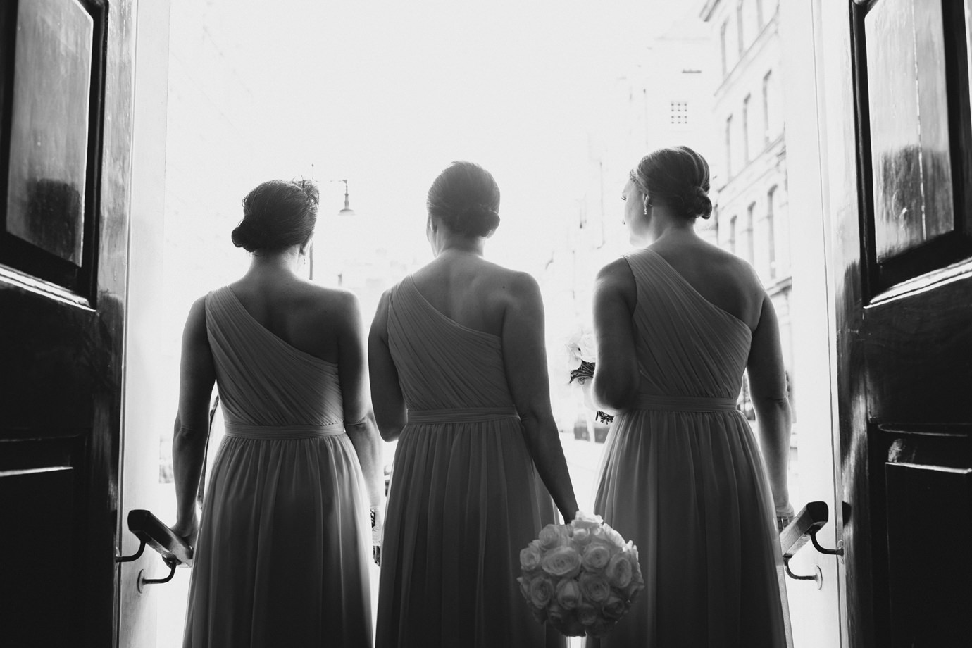 Waiting bridesmaids, Mayfair London
