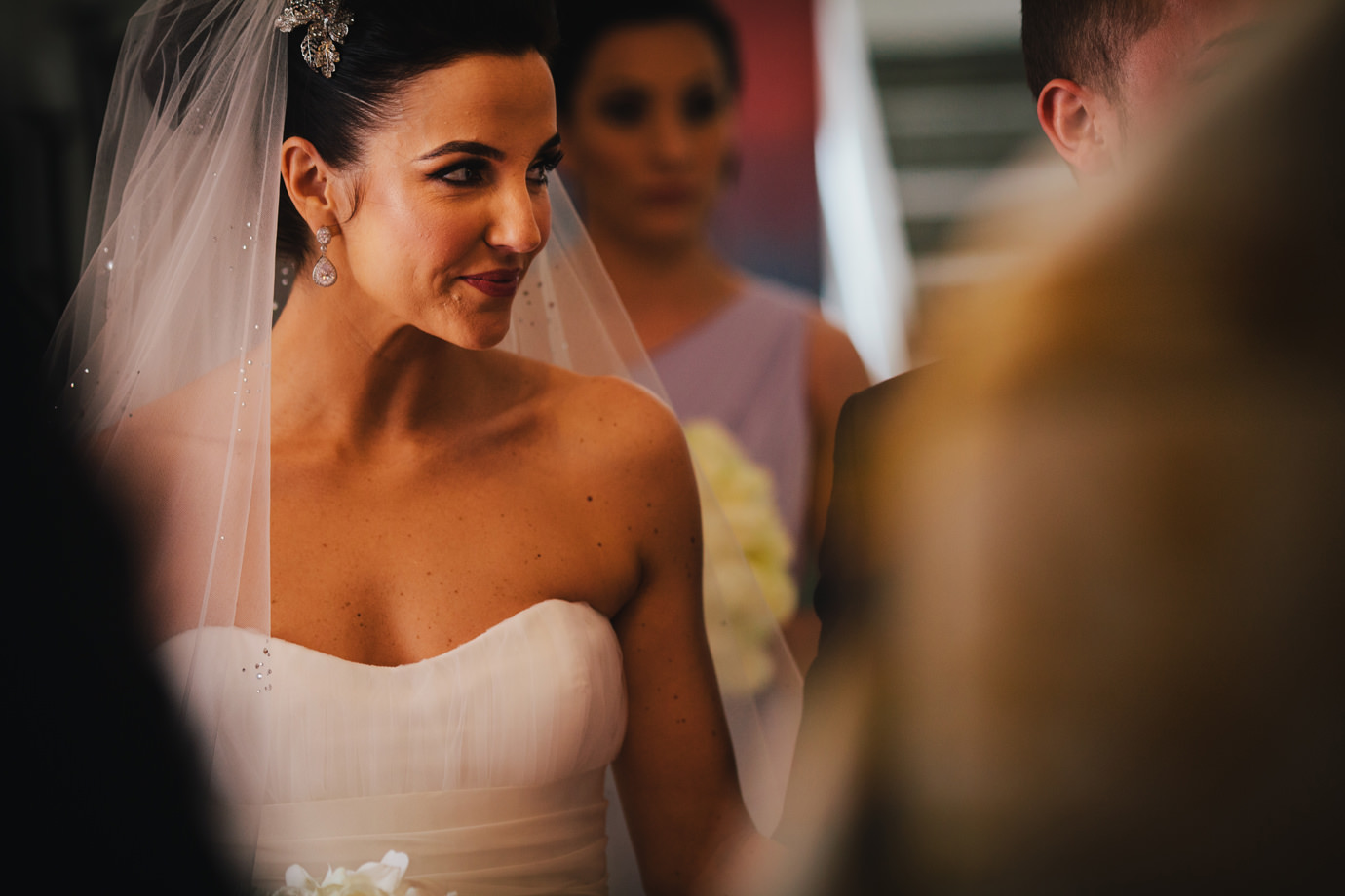 Bride, just married, documentary wedding photography, Grosvenor Chapel, London