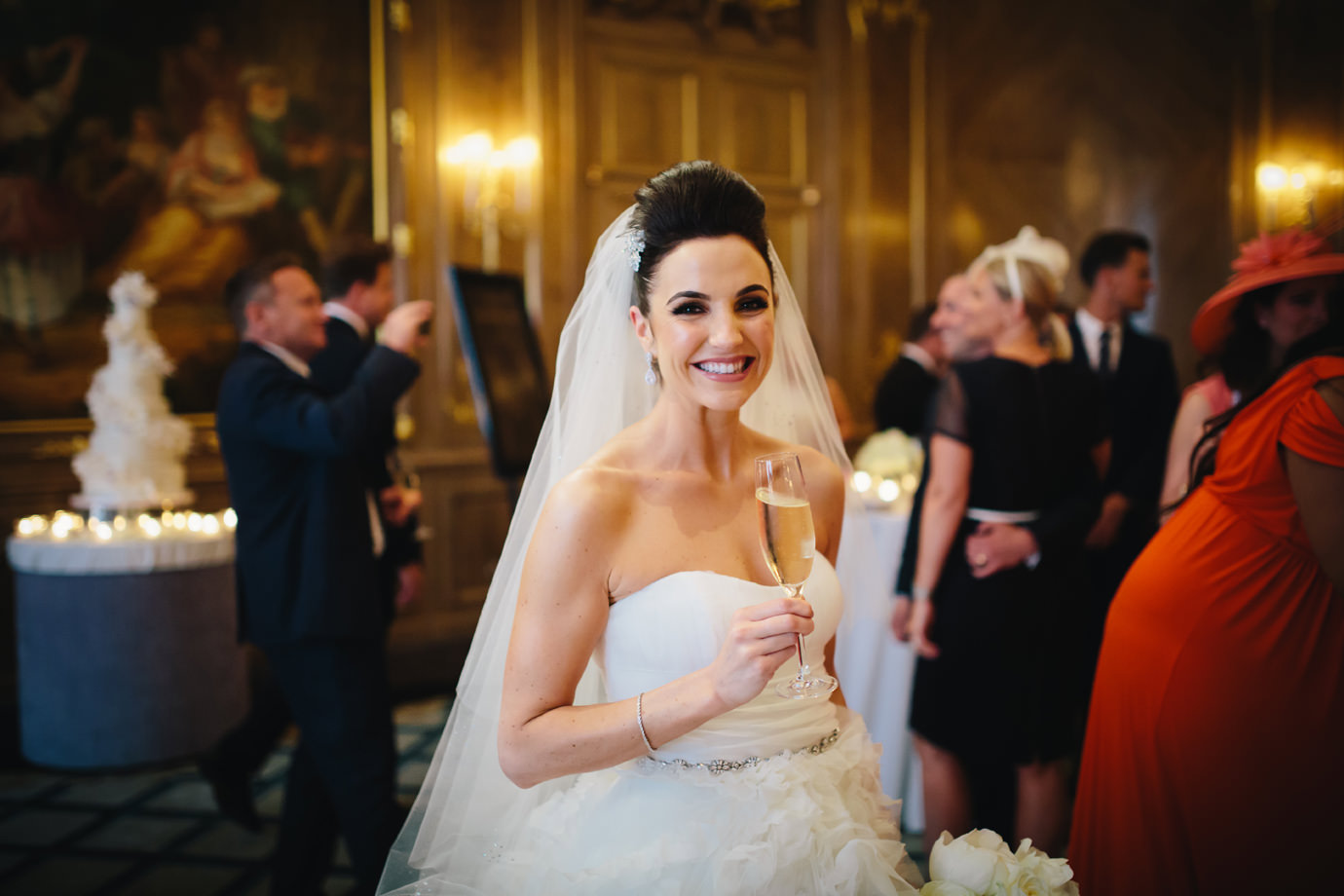 Bride in the French Salon, Claridges, London
