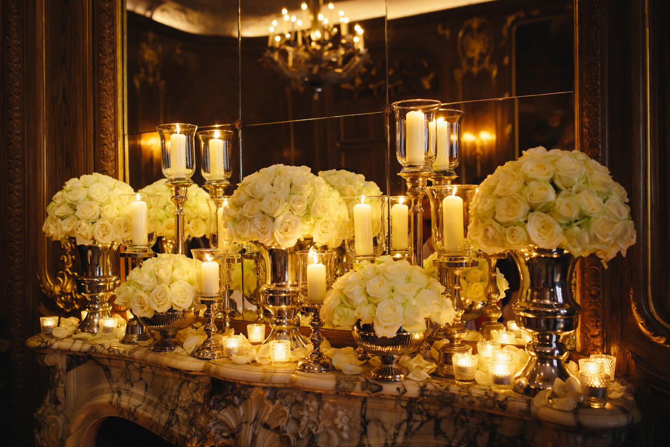 Floral display, French Salon, Claridges, Mayfair