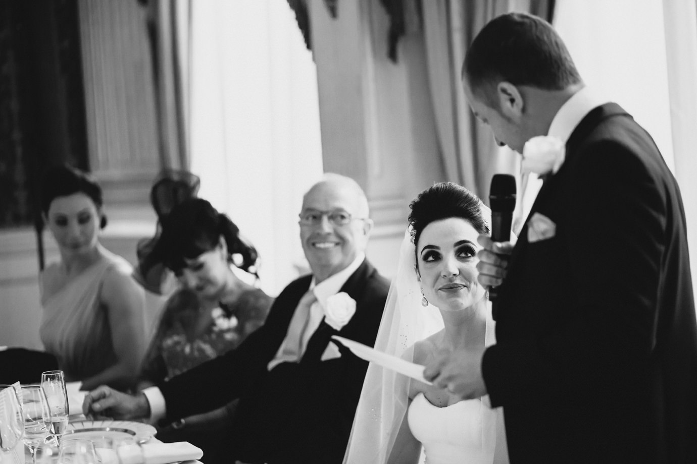 Grooms speech, documentary wedding photography, London