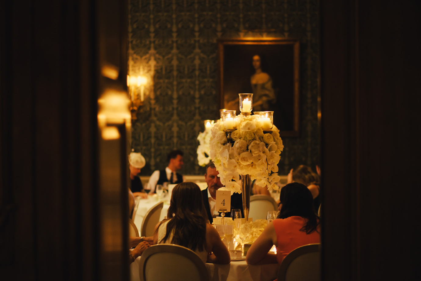 Table dressing, Drawing Room, Claridges, Mayfair