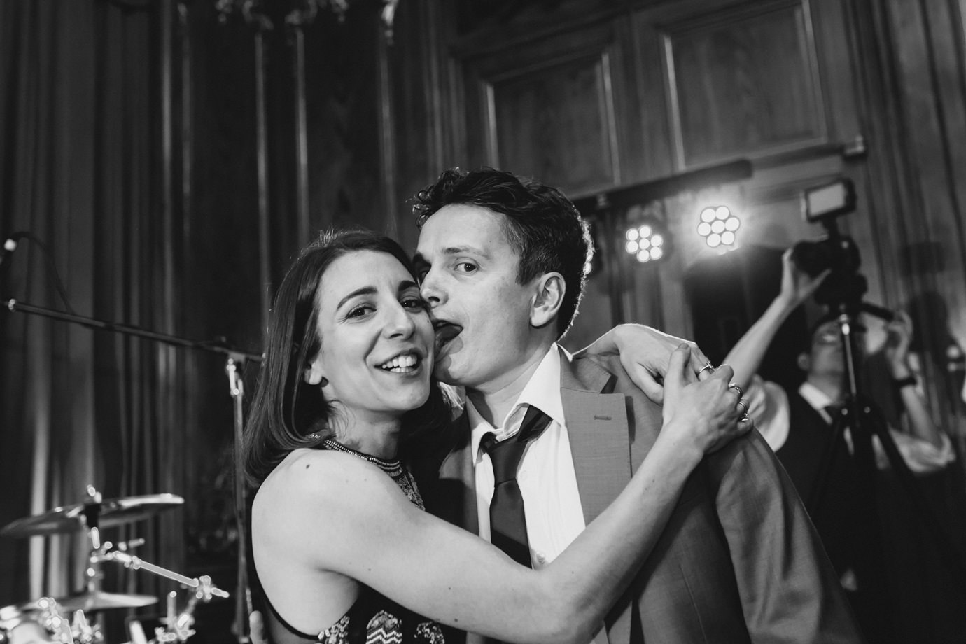 Face lick. Documentary wedding photography