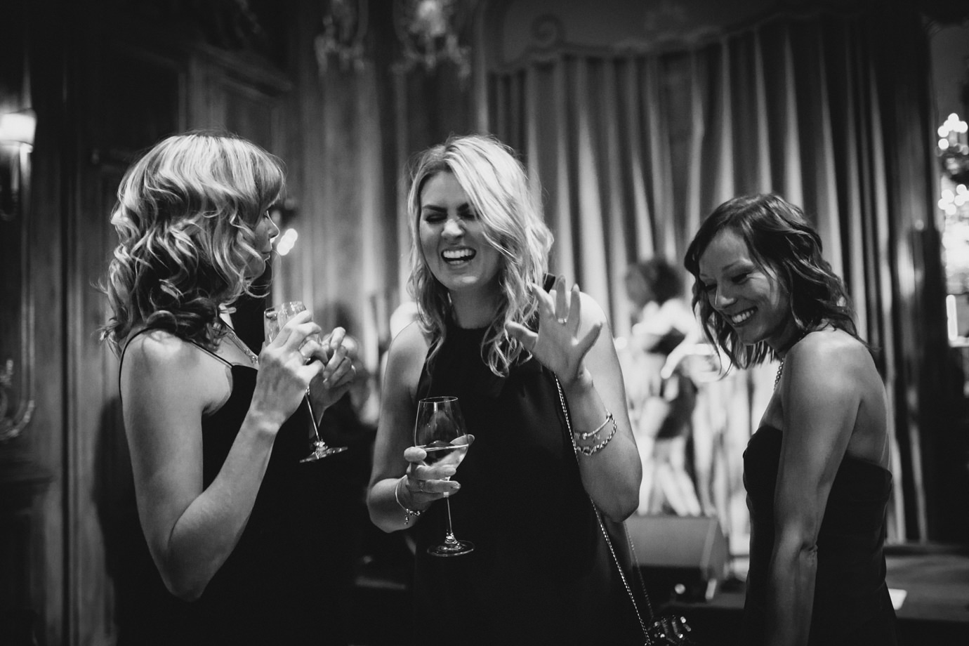 Telling stories, laughing, having fun. Wedding photography, Mayfair